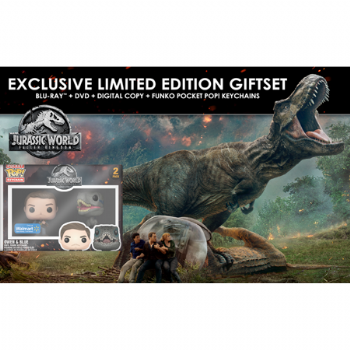 Jurassic World: Fallen Kingdom (Walmart Exclusive) (Blu-ray + DVD + Digital Copy + Funko Pocket Pop!